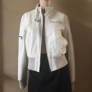 White Real Leather Jacket